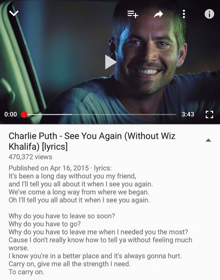 See You Again Charlie Puth